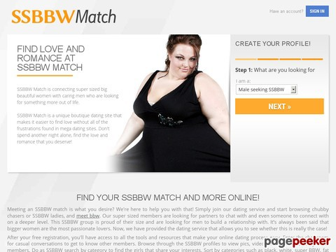 Kostenlose bbw dating website
